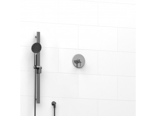 "Riobel -½"" 2-way coaxial system with hand shower rail - KIT#123PXTM"
