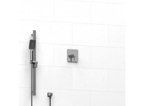 "Riobel -½"" 2-way coaxial system with hand shower rail - KIT#123PXTQ"
