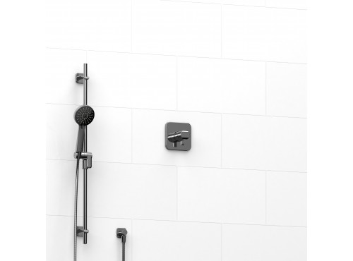 "Riobel -½"" 2-way coaxial system with hand shower rail - KIT#123SA"