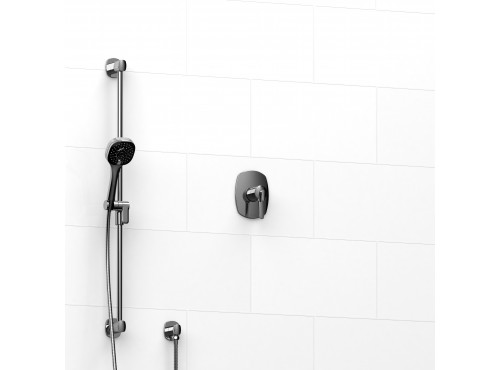 "Riobel -½"" 2-way coaxial system with hand shower rail - KIT#123VY"