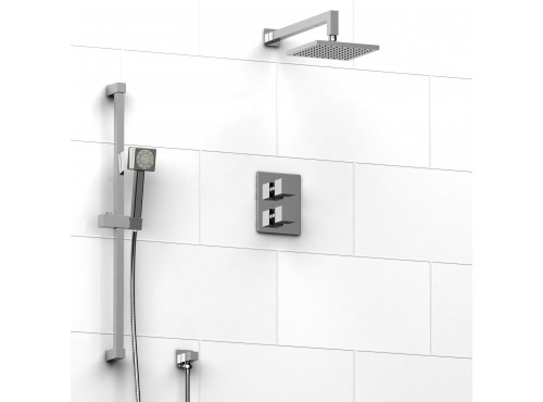 """Riobel -½"""" system with hand shower rail and shower head - KIT#2042"""