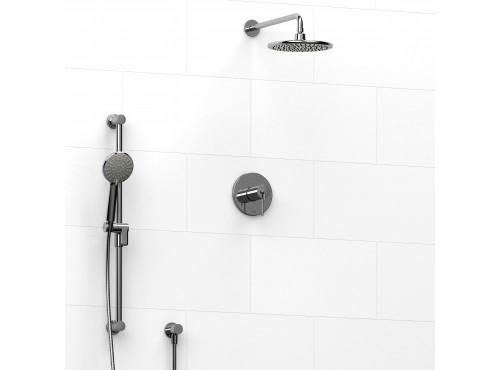 Riobel -½'' coaxial 2-way system with hand shower and shower head - KIT#323