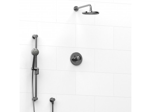Riobel -½'' coaxial 2-way system with hand shower and shower head - KIT#323EDTM+