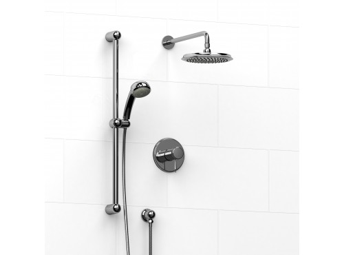Riobel -½'' coaxial 2-way system with hand shower and shower head - KIT#323GN