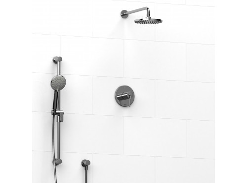 Riobel -½'' coaxial 2-way system with hand shower and shower head - KIT#323GS