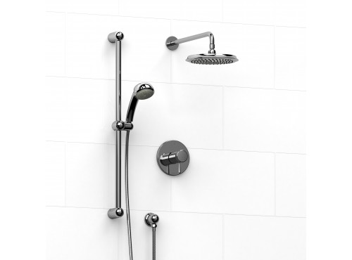 Riobel -½'' coaxial 2-way system with hand shower and shower head - KIT#323MA