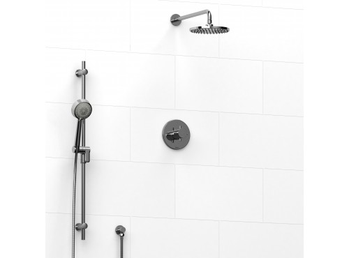 Riobel -½'' coaxial 2-way system with hand shower and shower head - KIT#323PATM+
