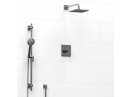 Riobel -½'' coaxial 2-way system with hand shower and shower head - KIT#323PATQ+