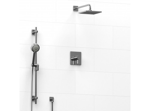 Riobel -½'' coaxial 2-way system with hand shower and shower head - KIT#323PFTQ