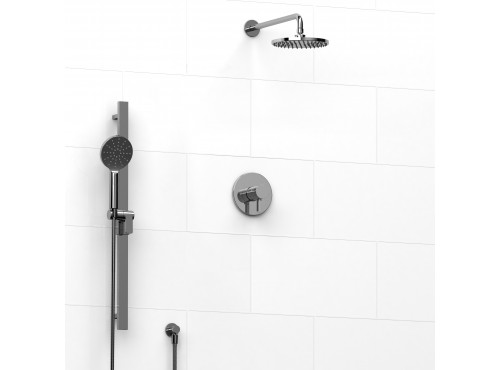 Riobel -½'' coaxial 2-way system with hand shower and shower head - KIT#323PXTM