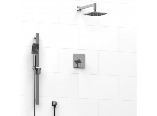 Riobel -½'' coaxial 2-way system with hand shower and shower head - KIT#323PXTQ