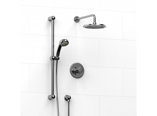 Riobel -½'' coaxial 2-way system with hand shower and shower head - KIT#323RO+