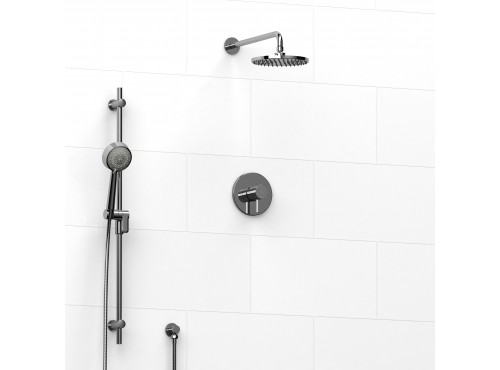 Riobel -½'' coaxial 2-way system with hand shower and shower head - KIT#323SHTM