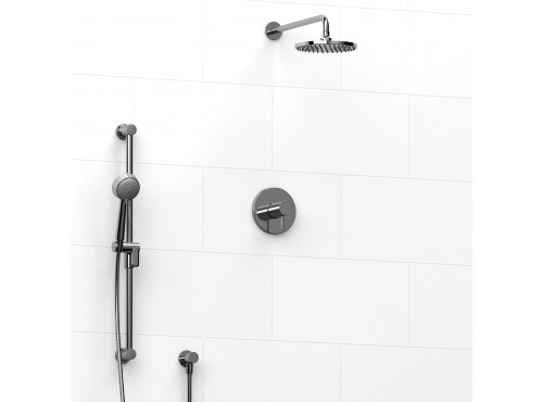 Riobel -½'' coaxial 2-way system with hand shower and shower head - KIT#323SYTM