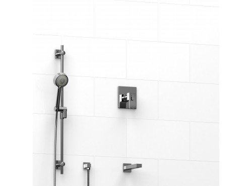 "Riobel -½"" 2-way coaxial system with spout and hand shower rail - KIT#3423ZOTQ"