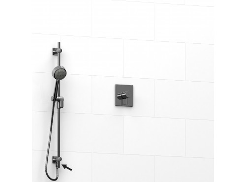 "Riobel -½"" 2-way coaxial system and hand shower rail - KIT#6123PATQ"