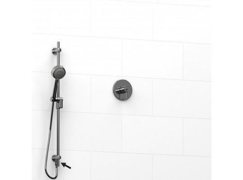 "Riobel -½"" 2-way coaxial system and hand shower rail - KIT#6123VSTM"