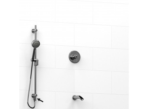 """Riobel -½"""" 2-way coaxial system, hand shower rail and spout - KIT#6223ATOP"""
