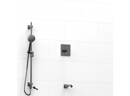 """Riobel -½"""" 2-way coaxial system, hand shower rail and spout - KIT#6223PATQ+"""
