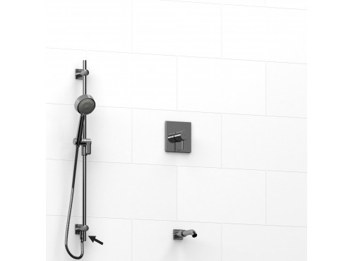 """Riobel -½"""" 2-way coaxial system, hand shower rail and spout - KIT#6223PATQ"""