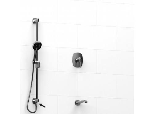 "Riobel -½"" 2-way coaxial system, hand shower rail and spout - KIT#6223VY"