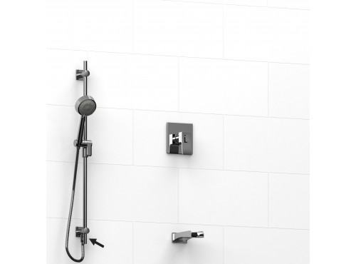 """Riobel -½"""" 2-way coaxial system, hand shower rail and spout - KIT#6223ZOTQ"""