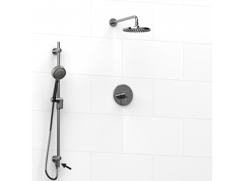 Riobel -½'' coaxial 2-way system, hand shower rail and shower head - KIT#6323PATM
