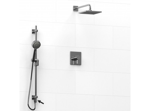 Riobel -½'' coaxial 2-way system, hand shower rail and shower head - KIT#6323PFTQ