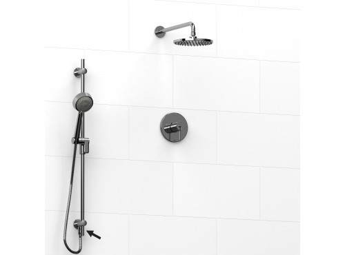 Riobel -½'' coaxial 2-way system, hand shower rail and shower head - KIT#6323VSTM