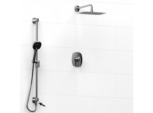 Riobel -½'' coaxial 2-way system, hand shower rail and shower head - KIT#6323VY
