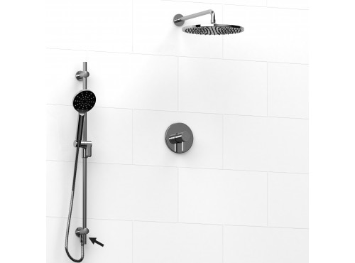 Riobel -½'' coaxial 2-way system, hand shower rail and shower head - KIT#7123