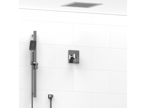 Riobel -½'' coaxial 2-way system with hand shower and shower head - KIT#7223