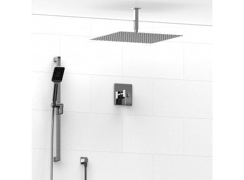 Riobel -½'' coaxial 2-way system with hand shower and shower head - KIT#8323