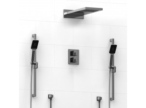 Riobel -Type T/Pdouble coaxial system with 2 hand shower rail and cascade shower heads - KIT#8446