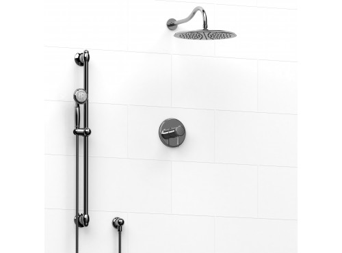 Riobel -½'' coaxial 2-way system with hand shower and shower head - KIT#9123