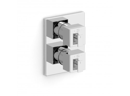 "Riobel -4-way ¾"" coaxial complete valve - KSTQ83C Chrome"
