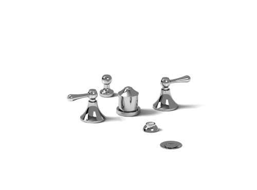 Riobel -4-piece bidet faucet with integrated vacuum breaker - MA09L