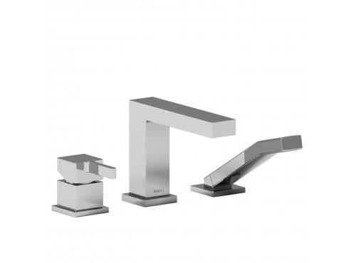 Riobel -3-piece deck-mount tub filler with hand shower - MZ10C Chrome