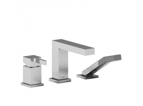 Riobel -3-piece pressure balance deck-mount tub filler with hand shower - MZ16C Chrome