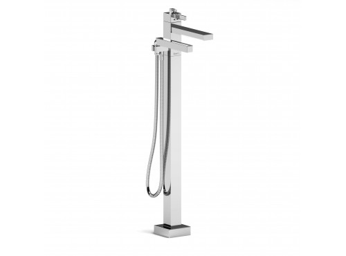 Riobel -2-way Type T (thermostatic) coaxial floor-mount tub filler with hand shower - MZ39C Chrome