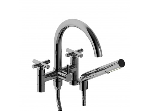"""Riobel -6"""" tub filler with hand shower - PA06+"""