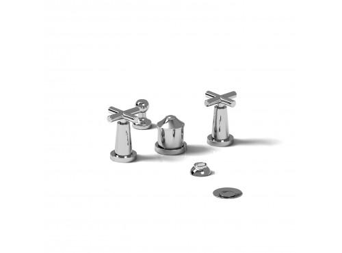 Riobel -4-piece bidet faucet with integrated vacuum breaker - PA09+