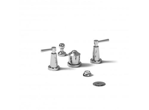 Riobel -4-piece bidet faucet with integrated vacuum breaker - PA09L