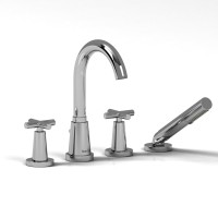 Riobel -4-piece deck-mount tub filler with hand shower - PA12+