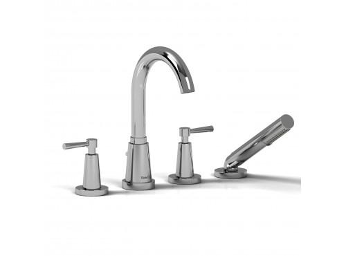 Riobel -4-piece deck-mount tub filler with hand shower - PA12L