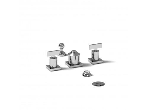 Riobel -4-piece bidet faucet with integrated vacuum breaker - PFTQ09T