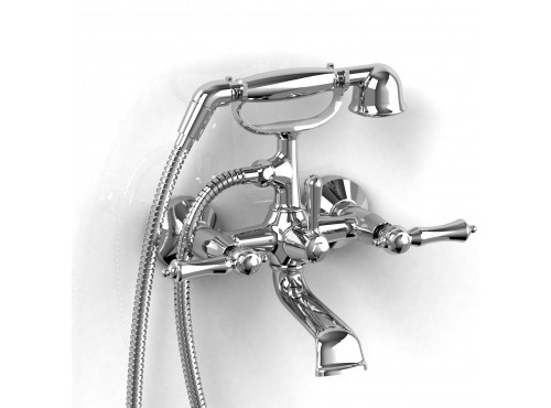 "Riobel -6"" tub filler with hand shower - PR06L"