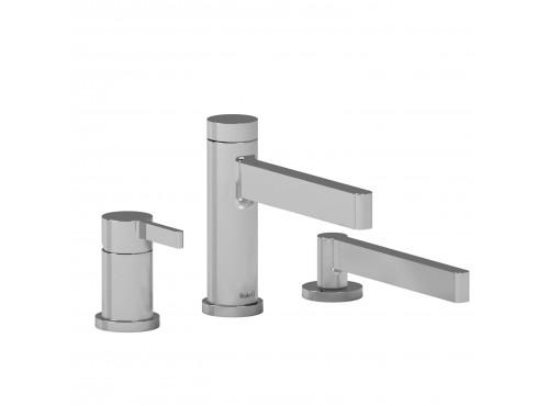 Riobel -3-piece pressure balance deck-mount tub filler with hand shower - PX16C Chrome