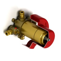 Riobel -2-way valve rough without cartridge - R23-EX