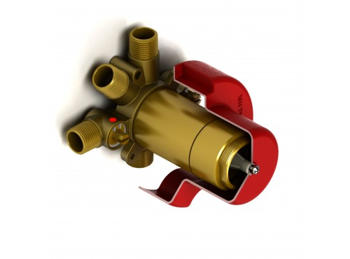 Riobel -3-way coaxial valve rough without cartridge - R45